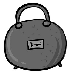 Gray handbag drawing on white background vector