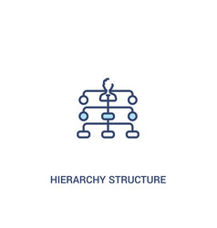 Hierarchy structure concept 2 colored icon simple vector