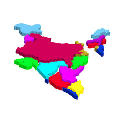 India abstract map vector