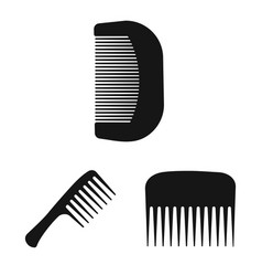 isolated object of brush and hair sign collection vector image