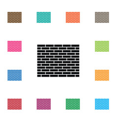 isolated stone icon brick element can be vector image