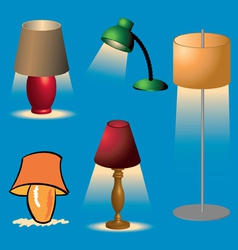 Lamps1 vector image vector image