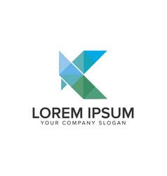 letter k modern logo design concept template vector image