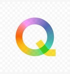 letter q gradient mosaic icon vector image