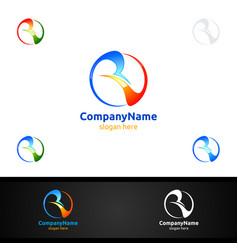 letter vr vr for digital logo marketing financial vector image