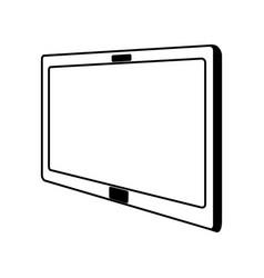 line icon tablet cartoon vector image