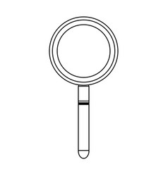 magnifying glass symbol black and white vector image