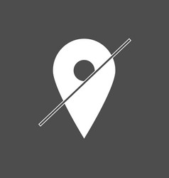map pointer icon location off gps location vector image