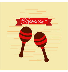 Maracas jazz instrument musical festival vector