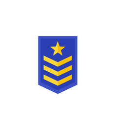 Military rank army epaulettes icon vector