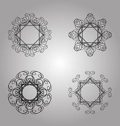 Monogram vector image