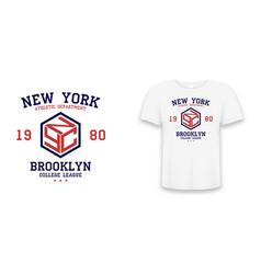 New york brooklyn slogan typography graphics vector