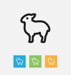 Of zoo symbol on sheep outline vector