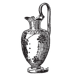 Oinochoe is a wine-jug vintage engraving vector