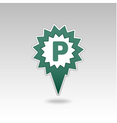 Parking pin map icon map pointer map markers vector
