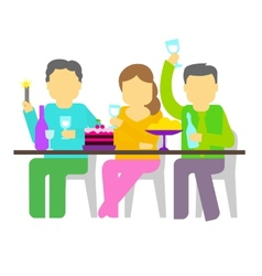 Party Three people vector