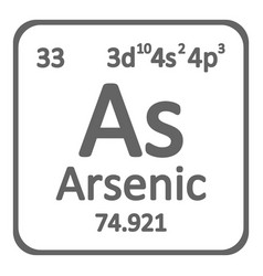 Periodic table element arsenic icon vector