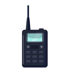 portable handheld radio icon cartoon style vector image