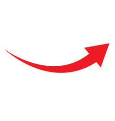 Red arrow icon on white background flat style vector