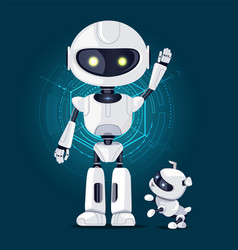 Robot and dog with interface vector
