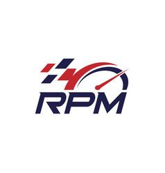 rpm automotive logo design editable logo design vector image