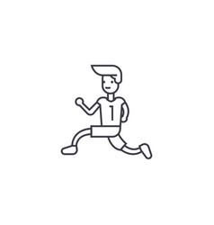 running to win line icon sign vector image