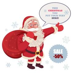 Santa claus advertising vector