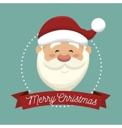 Santa claus head isolated icon design vector