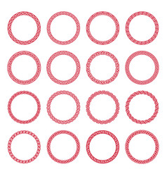 set chinese seamless round frames vector image
