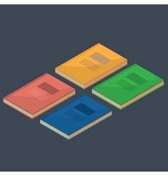 Set of 4 isometric books vector image