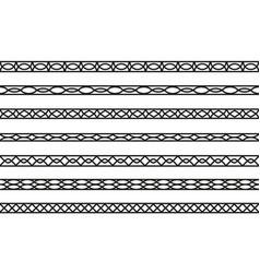 set seamless borders design elements vector image
