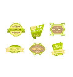 Set stickers and badges vector