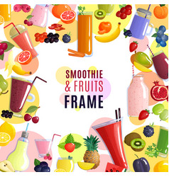 smoothie frame background vector image