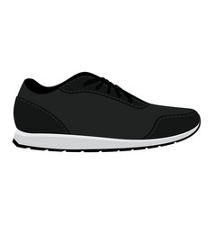 sneakers flat style sneakers side view isolated vector image