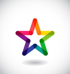 Star icon and logo vector image