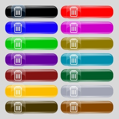 trash icon sign Set from fourteen multi-colored vector image