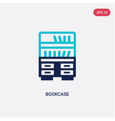two color bookcase icon from furniture concept vector image
