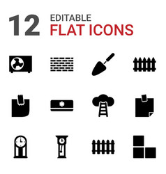 Wall icons vector