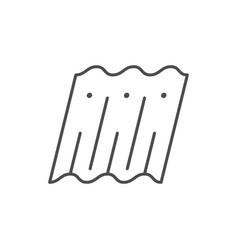 wavy roof slate line icon vector image