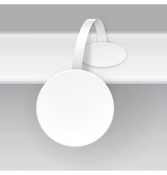 White Paper Plastic Advertising Price Wobbler vector