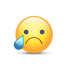 disappointed emoji face crying cartoon smiley sad vector image vector image