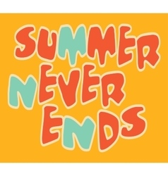 on the theme of summer T vector image vector image