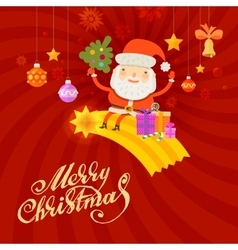 Santa Claus Merry Christmas and happy new year vector image vector image