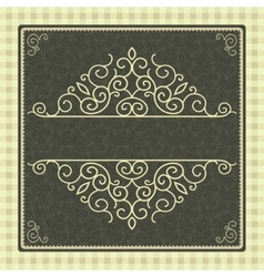 Vintage card with frame vector image vector image