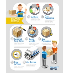 Delivery Service Conceptual Isometric Flat Style vector image
