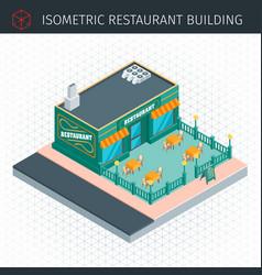 isometric restaurant house vector image