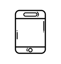 line smartphone technology to talk with people vector image vector image
