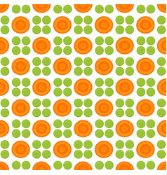 pattern with peas and carrot vector image vector image