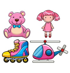 Pink toys vector image vector image