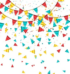 Colorful Garland with Buntings vector image